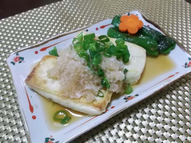 豆腐ステーキおろしポン酢_f0019498_22134518.jpg