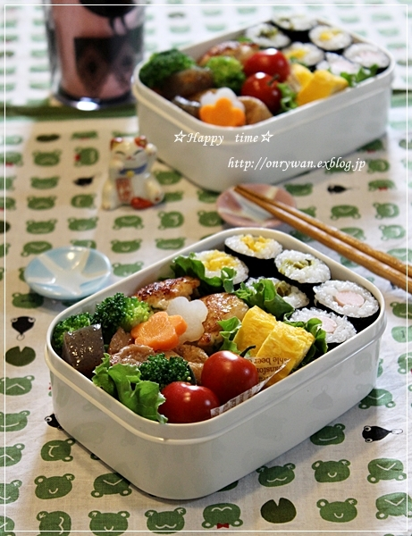 漬物で細巻寿司弁当とうちの子baby♪_f0348032_18481221.jpg