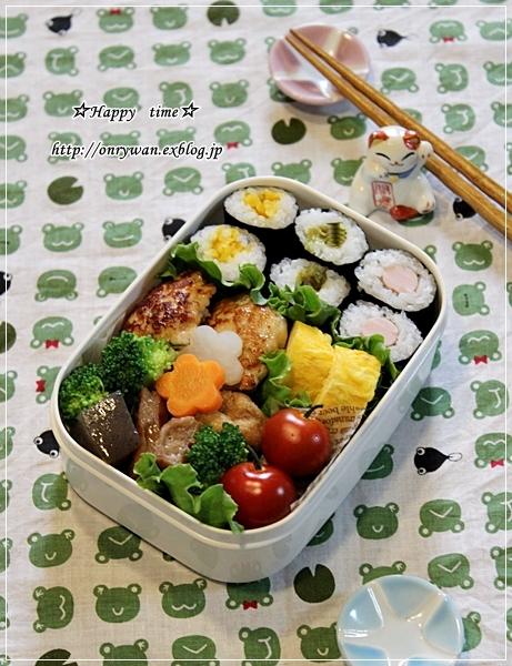 漬物で細巻寿司弁当とうちの子baby♪_f0348032_18482204.jpg