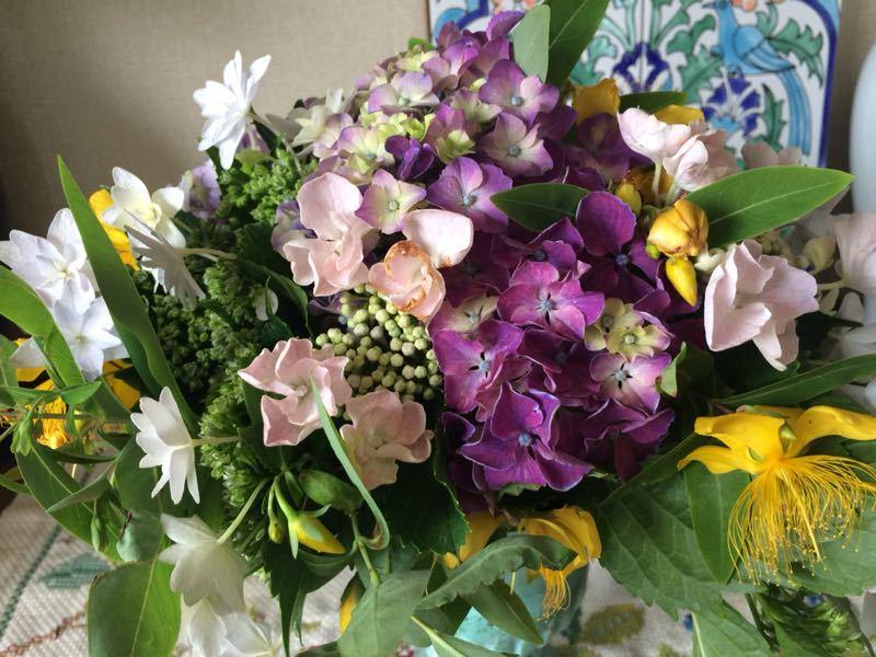 紫陽花のフラワーアレンジメント_e0233674_931063.jpg
