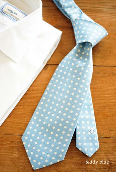 summer linen-cotton dot tie  夏の水玉のネクタイ_e0253364_9393350.jpg