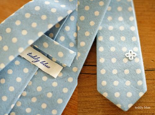 summer linen-cotton dot tie  夏の水玉のネクタイ_e0253364_9393931.jpg
