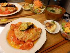 6/3晩ごはん:骨付き鶏もも肉のフレッシュトマト煮_a0116684_18463229.jpg