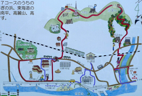 湘南 平 ハイキング コース 地図