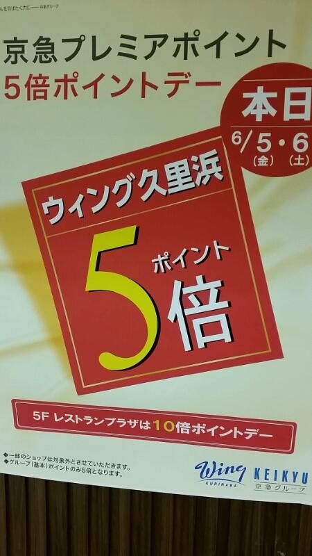 京急ウイング久里浜 平成27年6月5.6日 ウイング久里浜ポイントカードポイント5倍セール_d0092901_2112455.jpg