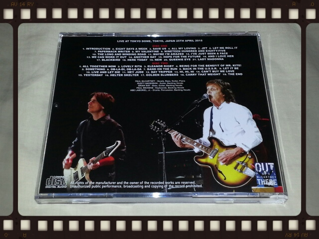 PAUL McCARTNEY / OUT THERE TOKYO 2015 2ND NIGHT_b0042308_2022675.jpg
