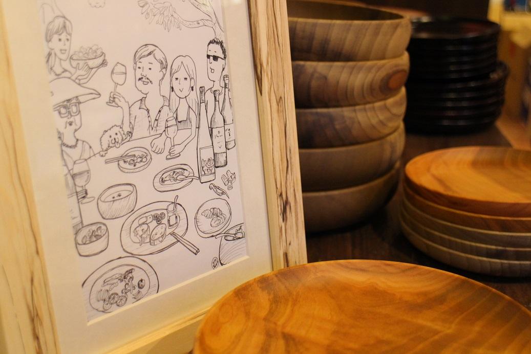 【明日から!】ありしろ道具店の木の器 in ルカワイン_b0016474_1845011.jpg