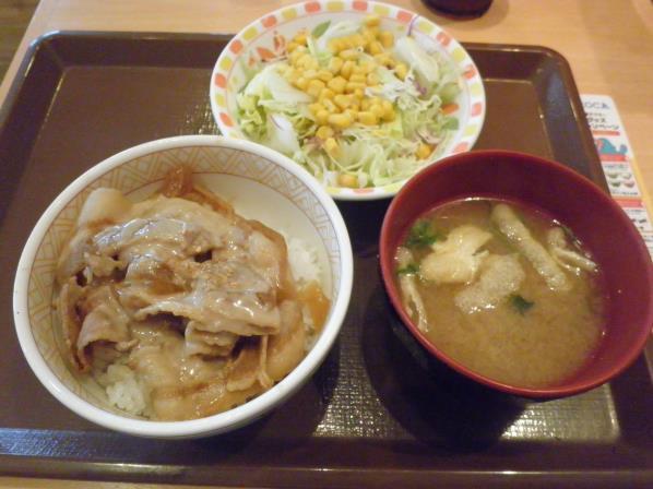 すき家のごまだれ豚丼    宝塚中筋店_c0118393_14393987.jpg