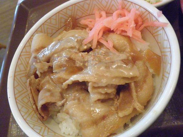 すき家のごまだれ豚丼    宝塚中筋店_c0118393_14441058.jpg