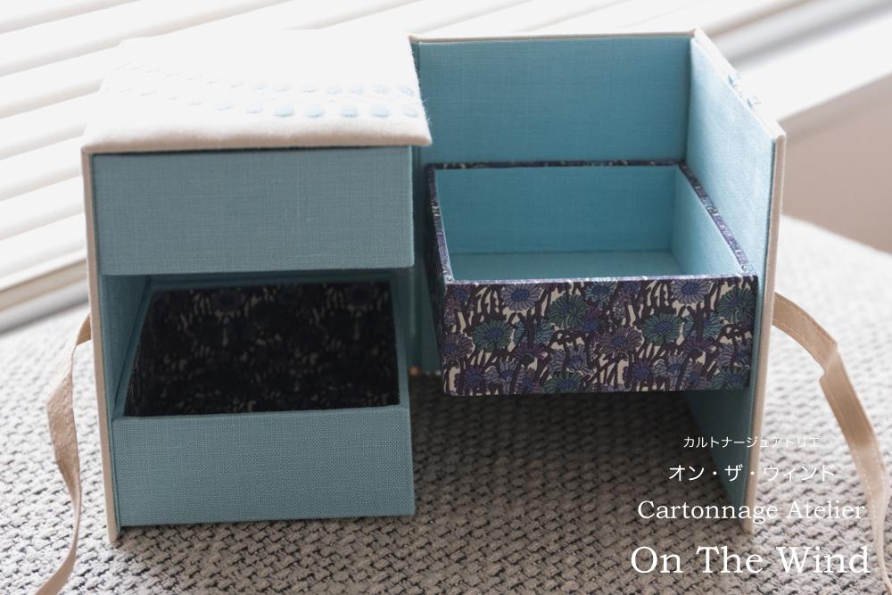 カルトナージュ*シークレットボックスを刺繍生地で制作(アトリエメンバー制作作品)_d0154507_07542951.jpg