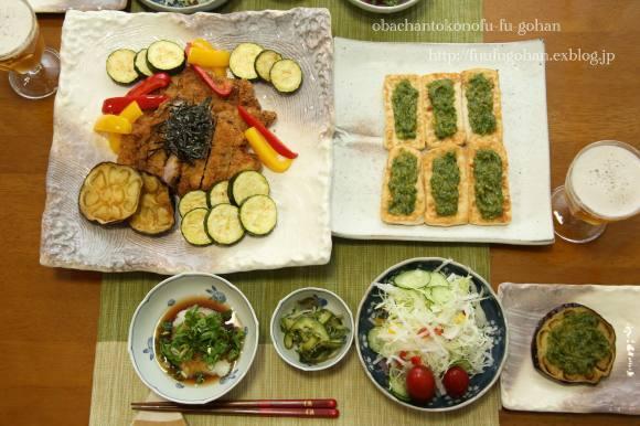鶏竜田揚げ和風弁当&豚カツDEおうちバル~_c0326245_11381545.jpg