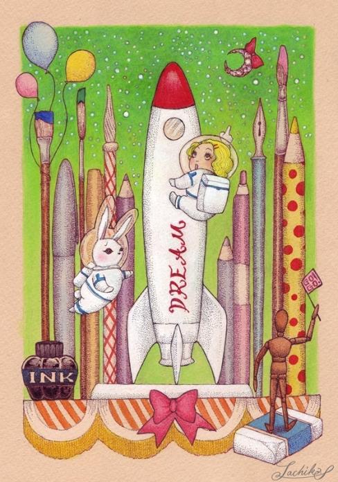 飛べ飛べ ロケット! <つれづれイラストレーション52>_f0228652_1235351.jpg
