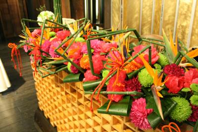 百年蔵 会場装花(花鞠たくさん。)_e0149863_22563966.jpg