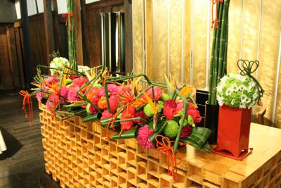 百年蔵 会場装花(花鞠たくさん。)_e0149863_22565887.jpg