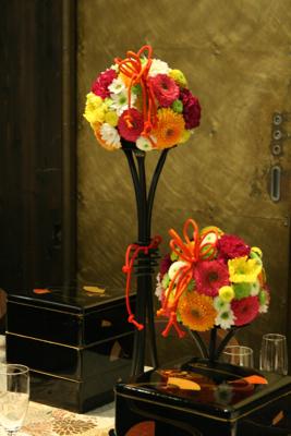 百年蔵 会場装花(花鞠たくさん。)_e0149863_22583421.jpg