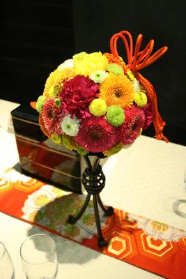 百年蔵 会場装花(花鞠たくさん。)_e0149863_22585184.jpg