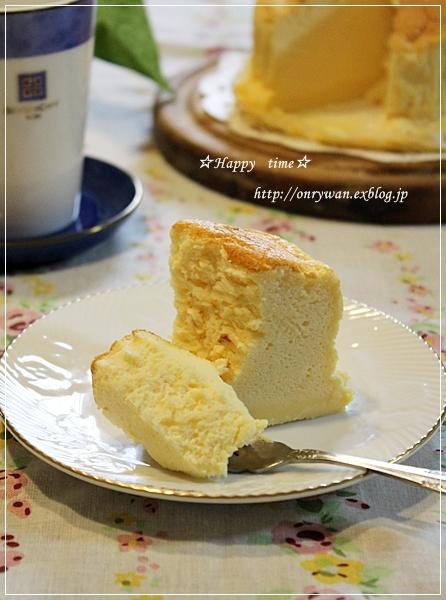 エビチリ弁当とスフレチーズケーキ♪_f0348032_17555147.jpg