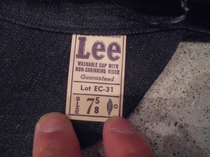 40\'s~ DEAD STOCK Lee Engineer Cap Lot EC-31 NOS. very rare !!_e0187362_1532486.jpg