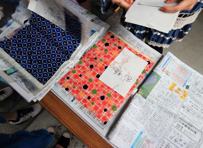 鈴木松風堂さん「わかりやすい型染紙」ワークショップ_e0289998_1416582.jpg
