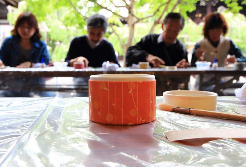 鈴木松風堂さん「わかりやすい型染紙」ワークショップ_e0289998_1427541.jpg
