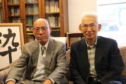 江辺純三(M32)先輩と藤倉嘉昭名誉教授(T32)が来訪_c0075701_15325457.jpg