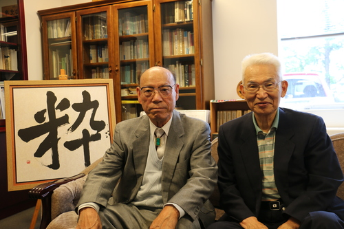 江辺純三(M32)先輩と藤倉嘉昭名誉教授(T32)が来訪_c0075701_15325492.jpg