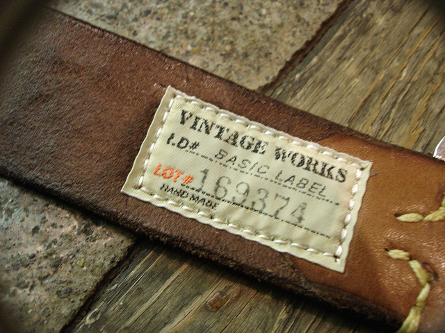 NEW : [Vintage Works] Special Hand Works [Leather Belt] !!_a0132147_23185268.jpg