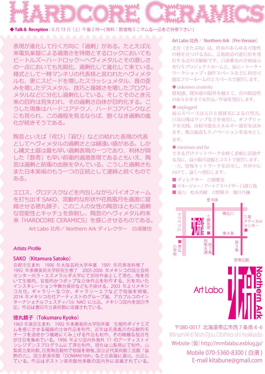 Hardcore Ceramics   Sako+徳丸鏡子展_f0185280_12185049.jpg