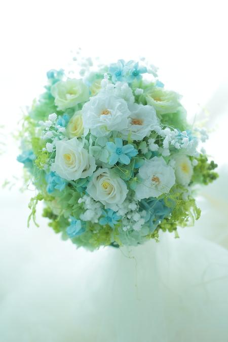 プリザーブドブーケ 横浜小さな結婚式さまへ_a0042928_1672423.jpg