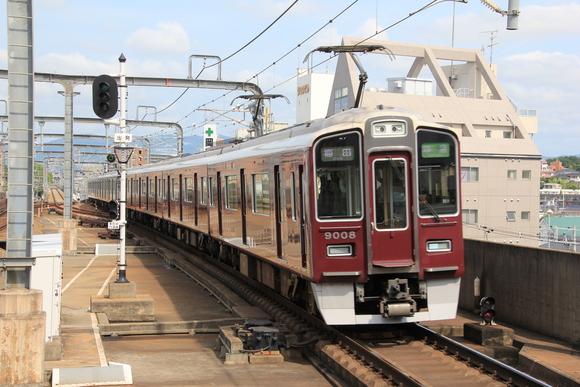 阪急9008F 準急 梅田行き_d0202264_12305541.jpg