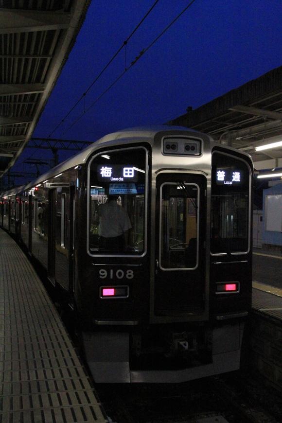 阪急9008F 準急 梅田行き_d0202264_12315936.jpg