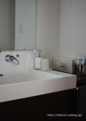 洗面台の上をすっきりを保つには、「シンプルなもの選び」が大切!