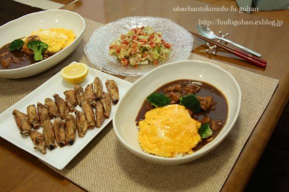 休日のブランチは、和食屋さん&オムライスディナー_c0326245_11493841.jpg