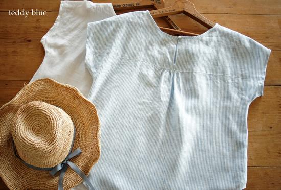 french linen blouse  フレンチリネンのブラウス_e0253364_21565056.jpg