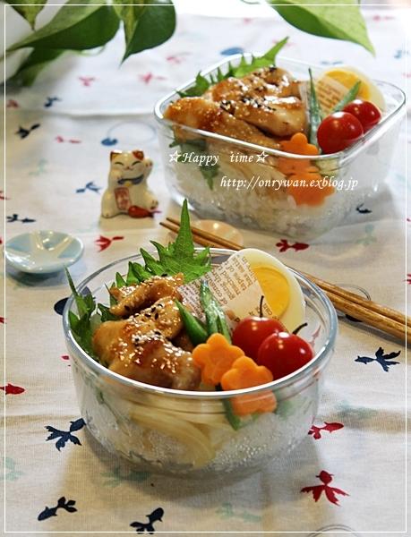 テリチキ丼弁当♪_f0348032_19105673.jpg