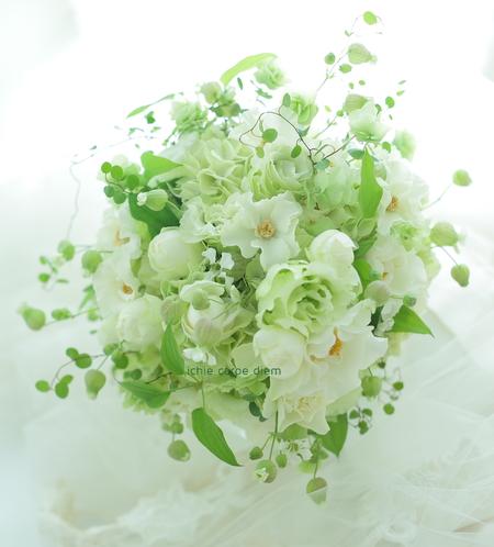 5シェアブーケ ウェスティンホテル東京様へ 6月の淡い緑のブーケ _a0042928_21384016.jpg