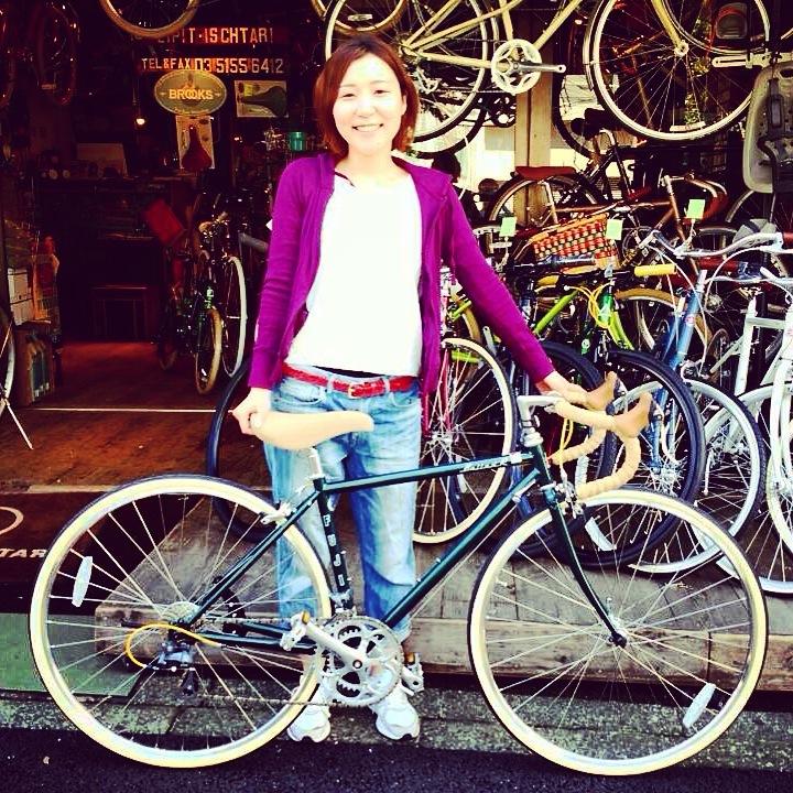 ☆今日のバイシクルガール10本立て☆ 自転車女子 おしゃれ 自転車ガール ミニベロ クロスバイク ロード _b0212032_20213589.jpg
