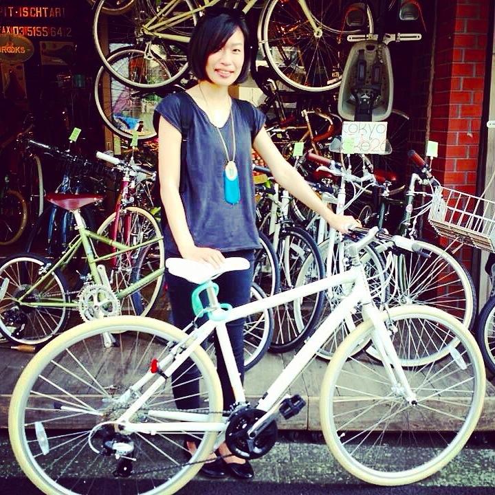 ☆今日のバイシクルガール10本立て☆ 自転車女子 おしゃれ 自転車ガール ミニベロ クロスバイク ロード _b0212032_20214616.jpg