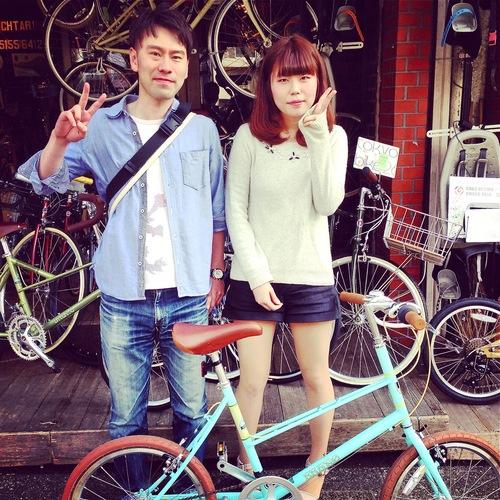 ☆今日のバイシクルガール10本立て☆ 自転車女子 おしゃれ 自転車ガール ミニベロ クロスバイク ロード _b0212032_20215593.jpg