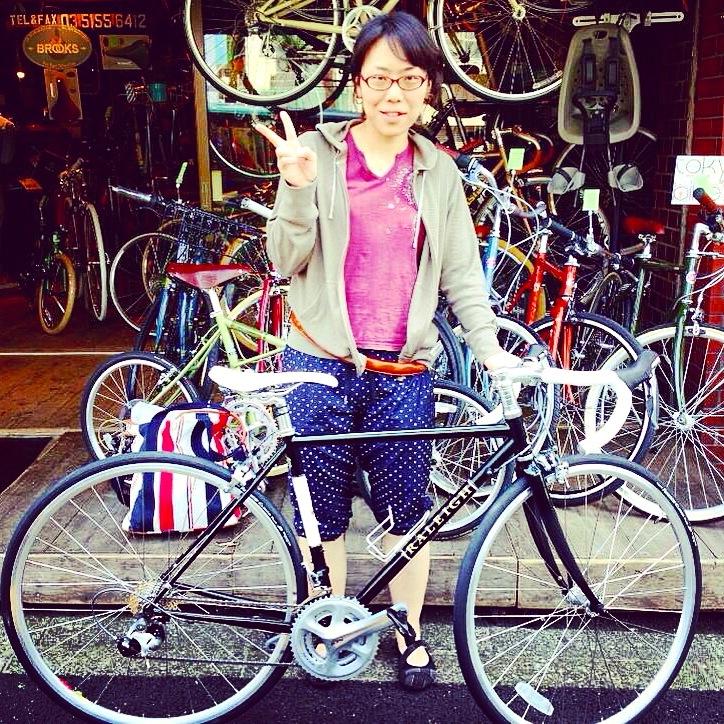 ☆今日のバイシクルガール10本立て☆ 自転車女子 おしゃれ 自転車ガール ミニベロ クロスバイク ロード _b0212032_20222125.jpg