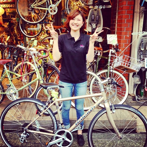 ☆今日のバイシクルガール10本立て☆ 自転車女子 おしゃれ 自転車ガール ミニベロ クロスバイク ロード _b0212032_20222839.jpg