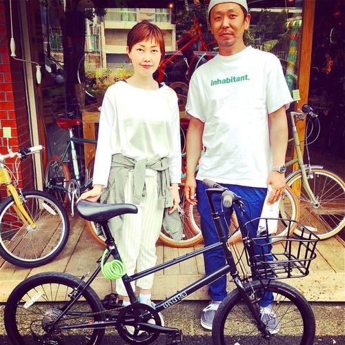 ☆今日のバイシクルガール10本立て☆ 自転車女子 おしゃれ 自転車ガール ミニベロ クロスバイク ロード _b0212032_20224181.jpg