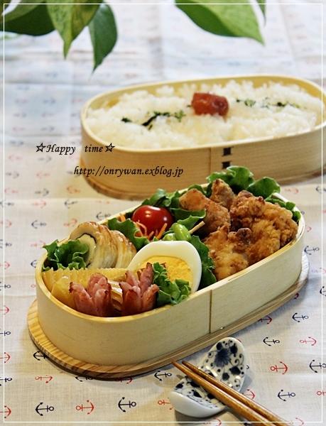 鶏の竜田揚げ弁当とココアシフォン♪_f0348032_20031438.jpg