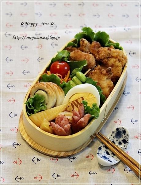 鶏の竜田揚げ弁当とココアシフォン♪_f0348032_20032447.jpg