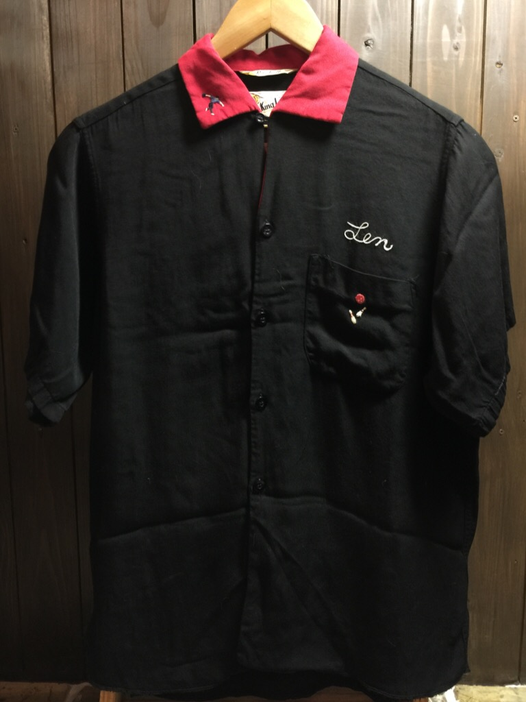 神戸店6/17(水)夏物ヴィンテージ入荷!#1  Bowling Shirt① BlackRayon!(T.W.神戸店)_c0078587_1483543.jpg