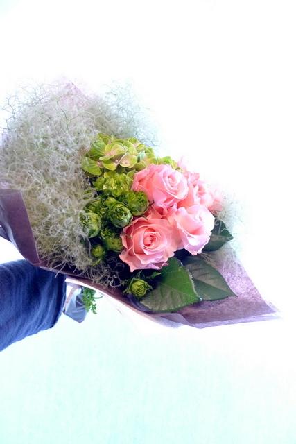 還暦のお祝い花束。_b0171193_18414611.jpg