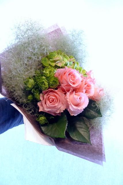 還暦のお祝い花束。_b0171193_18415165.jpg