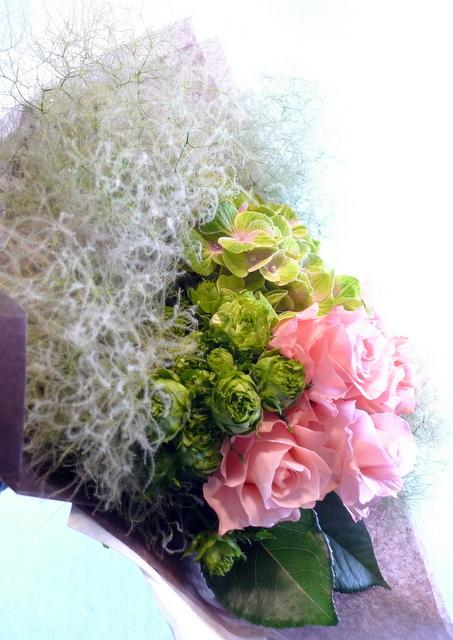 還暦のお祝い花束。_b0171193_18420144.jpg