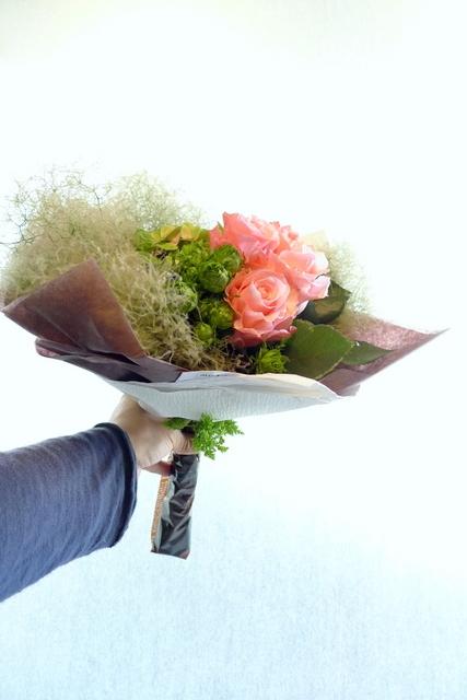 還暦のお祝い花束。_b0171193_18420465.jpg