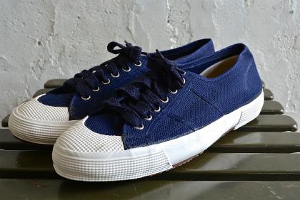 Italian navy canvas sneaker dead stock_f0226051_13255695.jpg